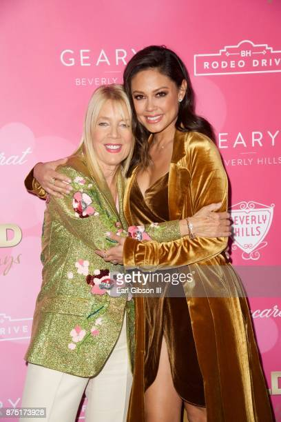 Beverly Hills Mayor Lili Bosse and Vanessa Lachey attend the Rodeo Drive Holiday Lighting Celebration on November 16 2017 in Beverly Hills California