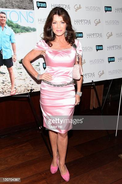Beverly Hills 'Real Housewife' Lisa Vanderpump attends Hamptons Magazine's celebration with cover star Andy Cohen at the Hudson Hotel on August 8...