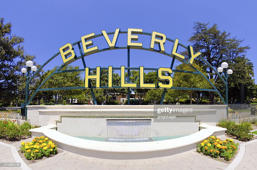 Beverly Hills sign in California
