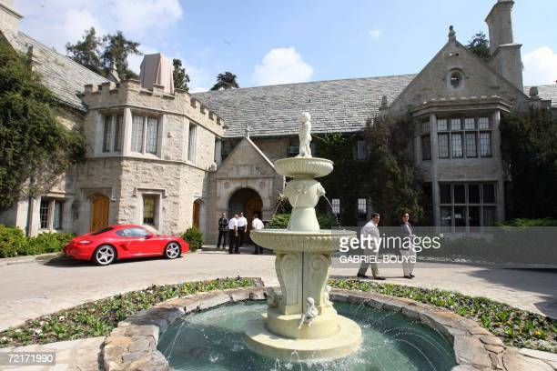 View of the Playboy Mansion owned by US Playboy Magazine publisher Hugh Hefner in Beverly Hills California 14 October 2006 GABRIEL BOUYS