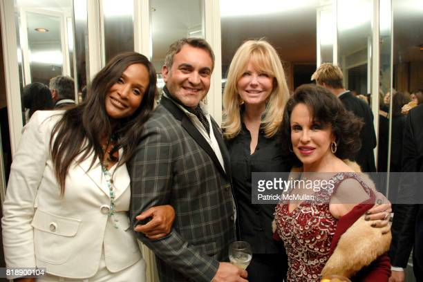 Beverly Johnson Martyn Lawrence Bullard Cheryl Tiegs and Nikki Haskell attend Mayor Antonio Villaraigosa celebrates Nikki Haskell's Birthday at...