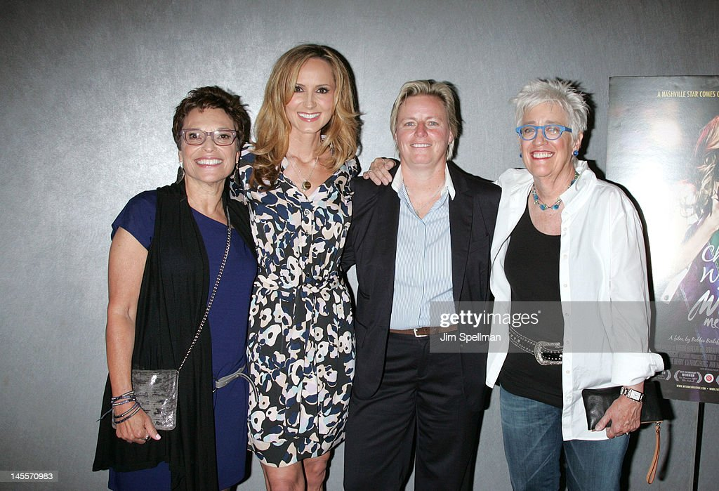 Beverly Kopf, Chely Wright, Rhonda Eiffe and Bobbie Birleffi attend the 'Chely Wright: Wish Me Away' premiere at the Quad Cinema on June 1, 2012 in New York City.