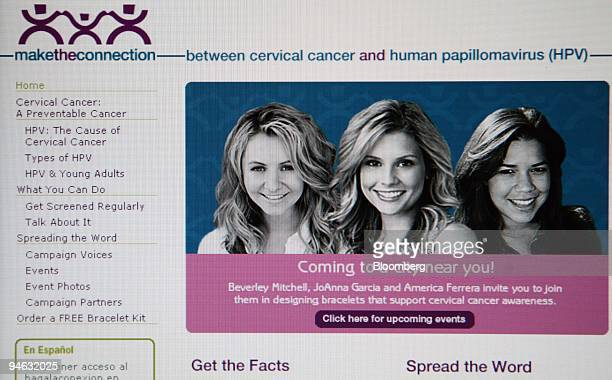Beverly Mitchell JoAnna Garcia and America Ferrera are pictured on the Maketheconnectionorg website that promotes the awareness of cervical cancer