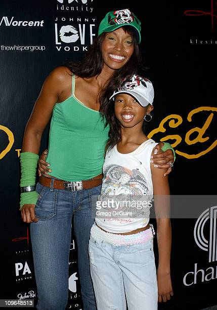 Beverly Peele and daughter Cairo during Christian Audigier Fashion Show Featuring New Ed Hardy Label Arrivals at 1707 North Vine St in Hollywood...