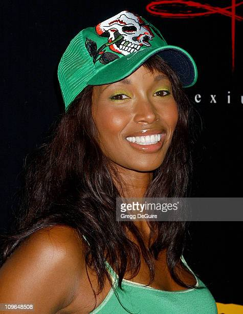 Beverly Peele during Christian Audigier Fashion Show Featuring New Ed Hardy Label Arrivals at 1707 North Vine St in Hollywood California United States