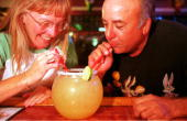 Beverly Short and Dale Slate share a huge Margarita September 28 2000 at La Hacienda in El Paso Texas Up to 40 percent of the firms making Mexico's...