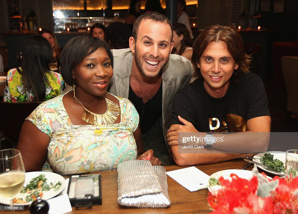 Beverly Smith, Micah Jesse and Jonathan Cheban attend the Invisible Text Mobile App Preview at the Soho House on August 14, 2013 in New York City.