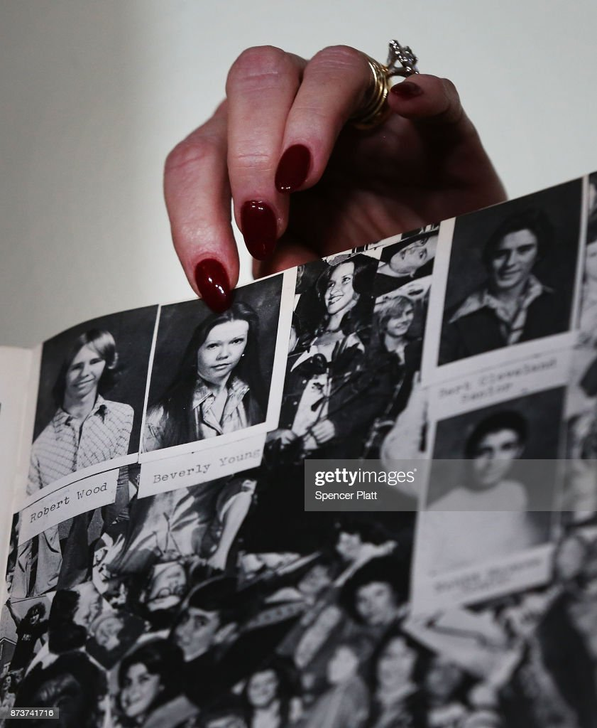 Beverly Young Nelson points to a picture of herself in her high school yearbook speaks to the media with her lawyer Gloria Allred, at a news conference where she has accused Alabama Republican Senate candidate Roy Moore of sexually abusing her when she was 16 on November 13, 2017 in New York City. Moore, a controversial politician who recently won a run-off against Luther Strange for Alabama's Senate seat, is currently fighting accusations alleging that he pursued sexual relationships with teenagers -- including a 14-year-old -- when he was in his 30s.