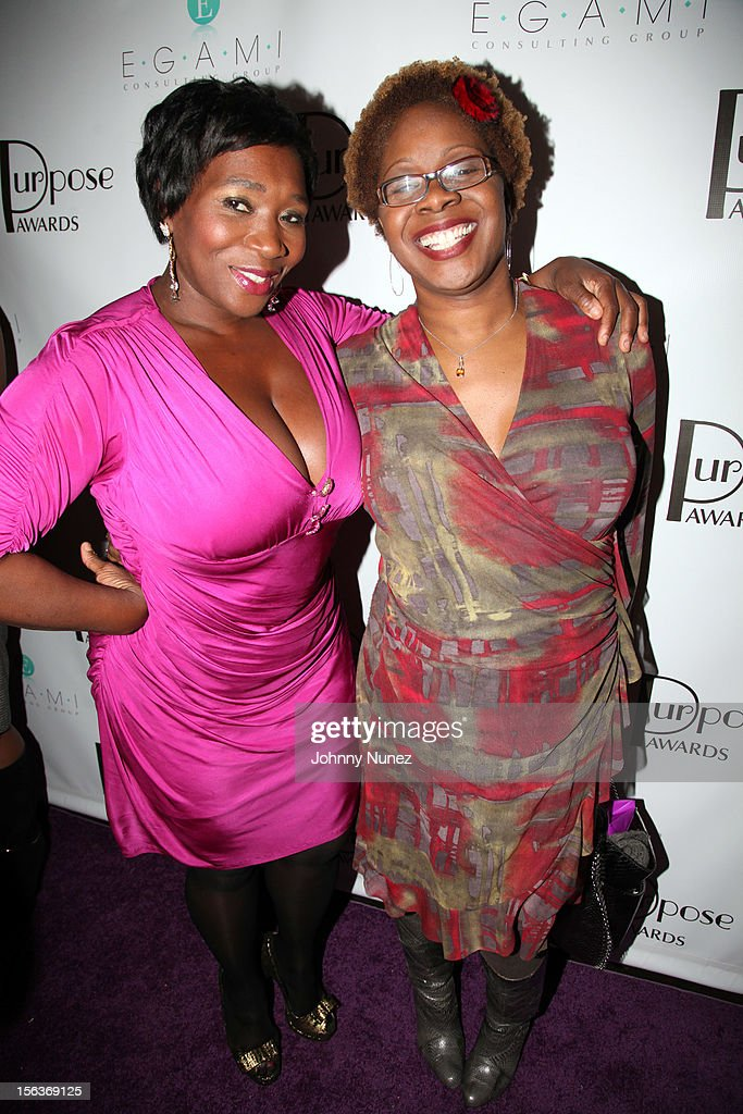 Bevy Smith and Robyn Greene Arrington attend the 2012 EGAMI Consulting Group Purpose Awards at Beauty & Essex on November 13, 2012 in New York City.