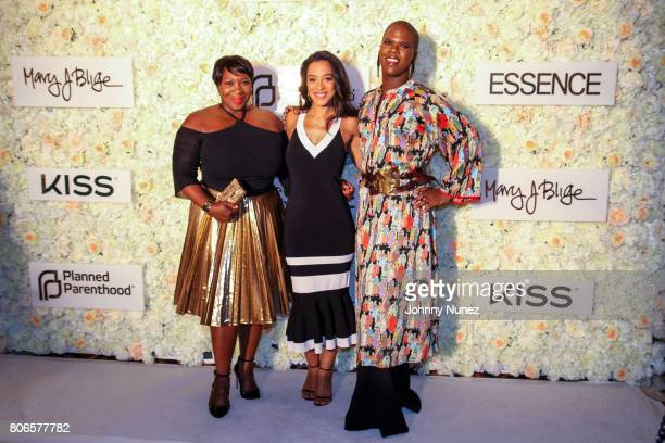 Bevy Smith Angela Rye and Miss Lawrence attend the Strength Of A Woman Brunch hosted by Mary J Blige at The Roosevelt New Orleans on July 2 2017 in...