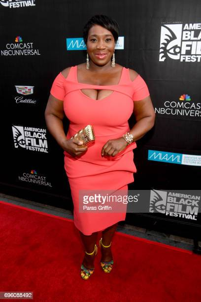 Bevy Smith attends the 'Girls Trip' red carpet screening during ABFF 2017 at Olympia Theater At Gusman Hall on June 14 2017 in Miami Florida