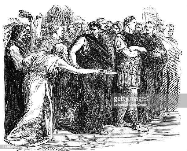 Beware the Ides of March Soothsayer warning Julius Caesar of the Ides of March the day on which he was assassinated Illustration for Julius Caesar...
