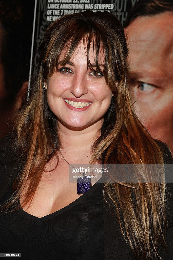 Bex Schwartz attends 'The Armstrong Lie' premiere at the Tribeca Grand Hotel on October 30, 2013 in New York City.
