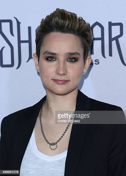 Bex TaylorKlaus attends the Premiere of 'The Shannara Chronicles' in Westwood California on December 4 2015 AFP PHOTO /CHRIS DELMAS / AFP / CHRIS...