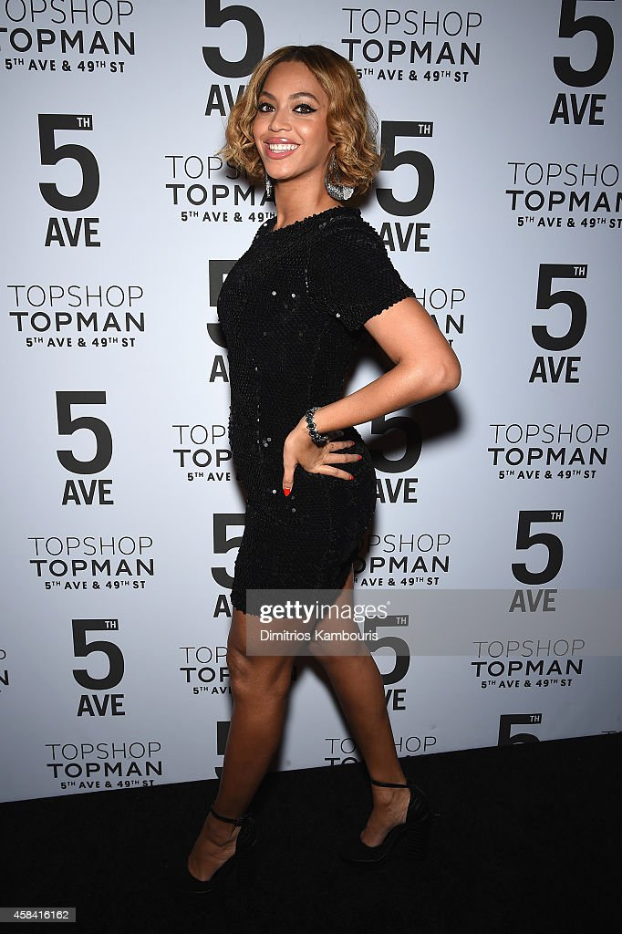 Beyoncé Knowles attends the Topshop Topman New York City flagship opening dinner at Grand Central Terminal on November 4, 2014 in New York City.