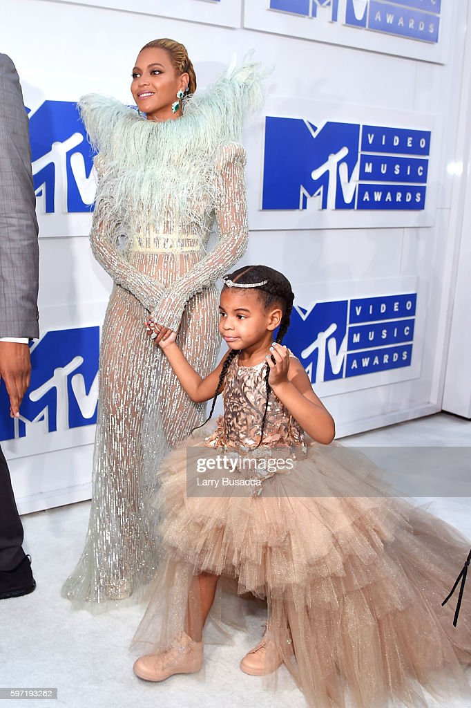 Beyonce and Blue Ivy attend the 2016 MTV Video Music Awards at Madison Square Garden on August 28, 2016 in New York City.