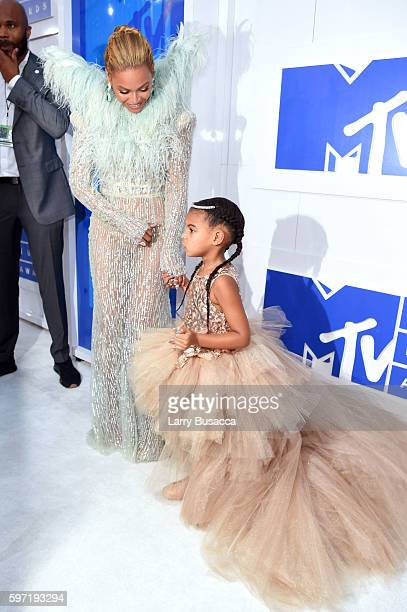 Beyonce and Blue Ivy attend the 2016 MTV Video Music Awards at Madison Square Garden on August 28 2016 in New York City