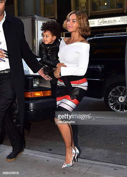 Beyonce and Blue Ivy Carter are seen on November 4 2014 in New York City