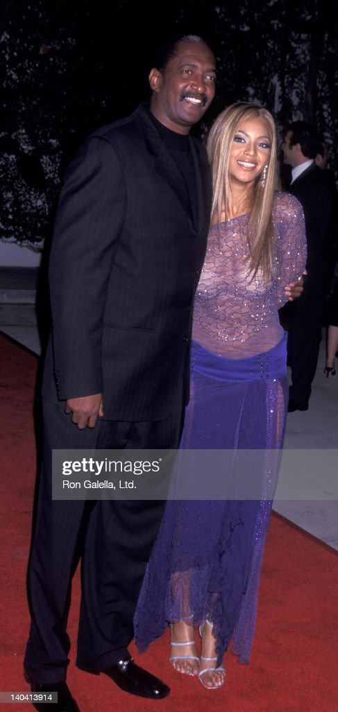 Beyonce and father Mathew Knowles attend Sony Party for 44th Annual Grammy Awards on February 27, 2002 at Morton's Restaurant in West Hollywood, California.