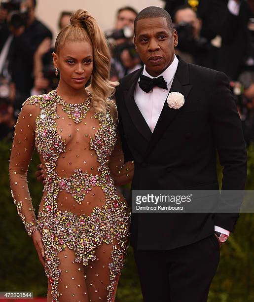Beyonce and Jay Z attend the 'China Through The Looking Glass' Costume Institute Benefit Gala at the Metropolitan Museum of Art on May 4 2015 in New...