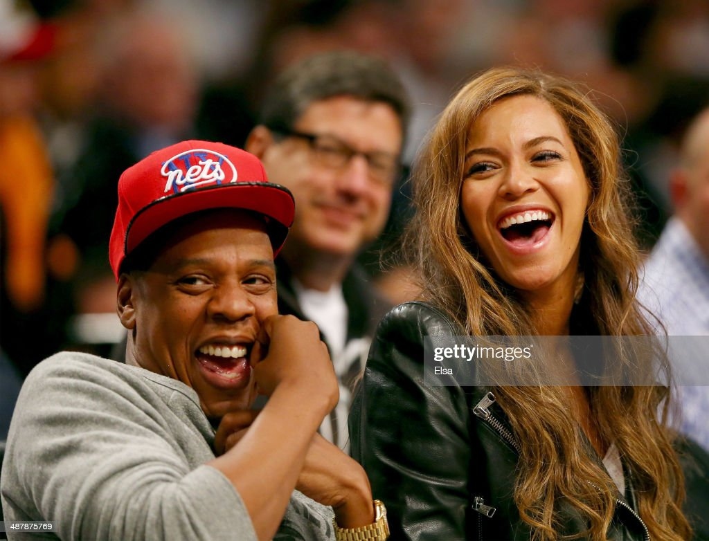 Beyonce and Jay-Z attend Game Six of the Eastern Conference Quarterfinals during the 2014 NBA Playoffs at the Barclays Center on May 2, 2014 in the Brooklyn borough of New York City.