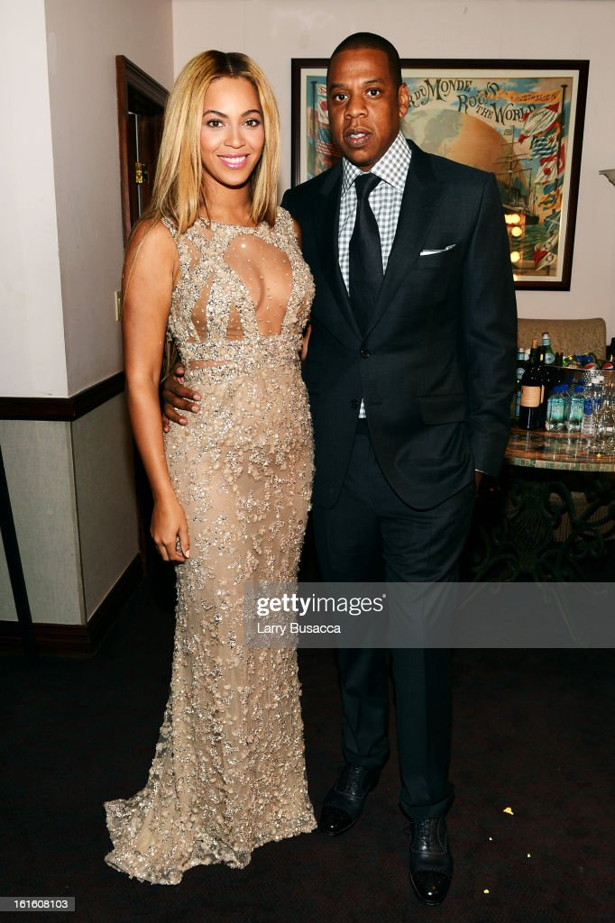 Beyonce and Jay-Z attend the HBO Documentary Film 'Beyonce: Life Is But A Dream' New York Premiere at the Ziegfeld Theater on February 12, 2013 in New York City.