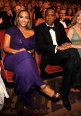 NEW YORK JUNE 13 Beyonce and JayZ in the audience at the 64th Annual Tony Awards at Radio City Music Hall on June 13 2010 in New York City