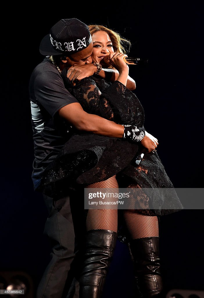 Beyonce and <a gi-track='captionPersonalityLinkClicked' href=/galleries/search?phrase=Jay-Z&family=editorial&specificpeople=201664 ng-click='$event.stopPropagation()'>Jay-Z</a> perform during the 'On The Run Tour: Beyonce And <a gi-track='captionPersonalityLinkClicked' href=/galleries/search?phrase=Jay-Z&family=editorial&specificpeople=201664 ng-click='$event.stopPropagation()'>Jay-Z</a>' at Minute Maid Park on July 18, 2014 in Houston, Texas.