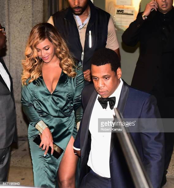 Beyonce and JayZ seen in Manhattan on September 14 2017 in New York City