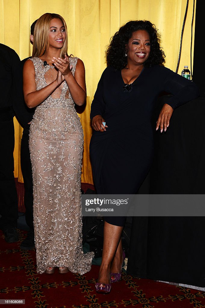 Beyonce and Oprah Winfrey attend the HBO Documentary Film 'Beyonce: Life Is But A Dream' New York Premiere at the Ziegfeld Theater on February 12, 2013 in New York City.