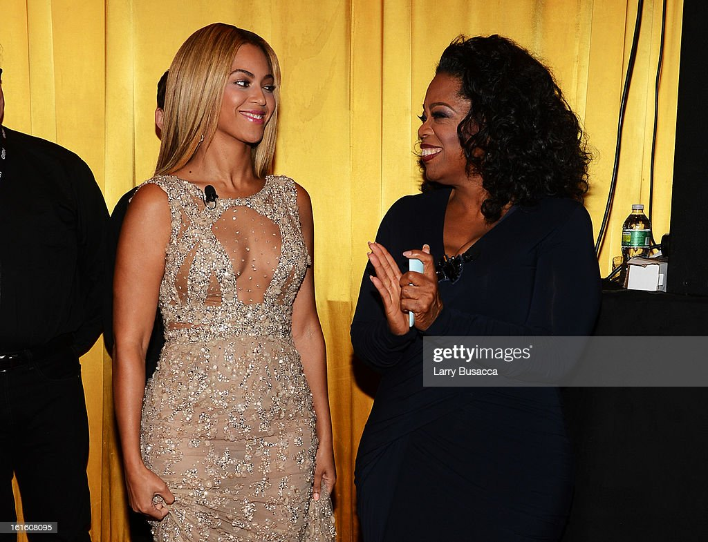 Beyonce and <a gi-track='captionPersonalityLinkClicked' href=/galleries/search?phrase=Oprah+Winfrey&family=editorial&specificpeople=171750 ng-click='$event.stopPropagation()'>Oprah Winfrey</a> attend the HBO Documentary Film 'Beyonce: Life Is But A Dream' New York Premiere at the Ziegfeld Theater on February 12, 2013 in New York City.