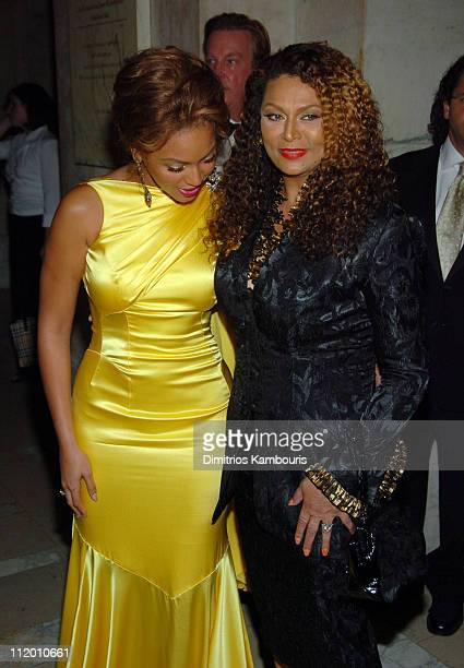 Beyonce and Tina Knowles during 2004 CFDA Fashion Awards Arrivals at New York Public Library in New York City New York United States