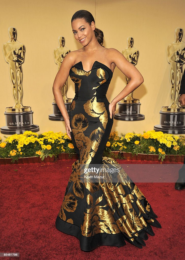Beyonce arrives at the 81st Annual Academy Awards held at The Kodak Theatre on February 22 2009 in Hollywood California