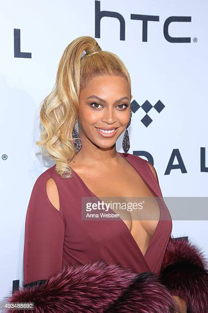 Beyonce arrives to TIDAL X 1020 at Barclays Center on October 20 2015 in the Brooklyn borough of New York City