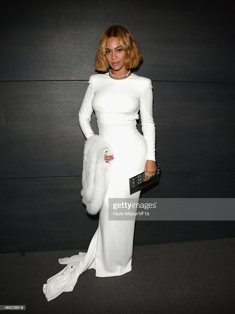 Beyonce attends the 2015 Vanity Fair Oscar Party hosted by Graydon Carter at the Wallis Annenberg Center for the Performing Arts on February 22 2015...