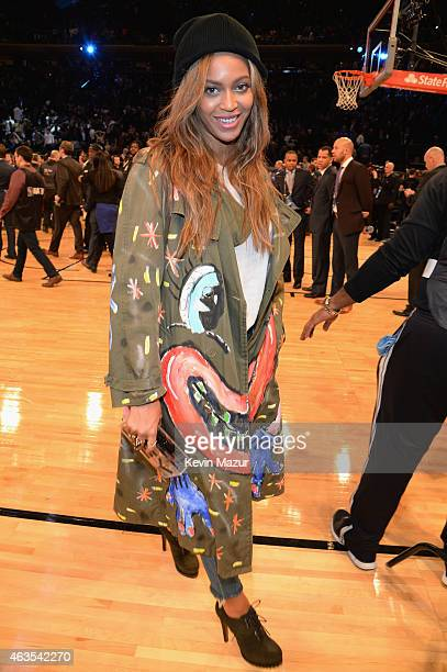 Beyonce attends The 64th NBA AllStar Game 2015 on February 15 2015 in New York City