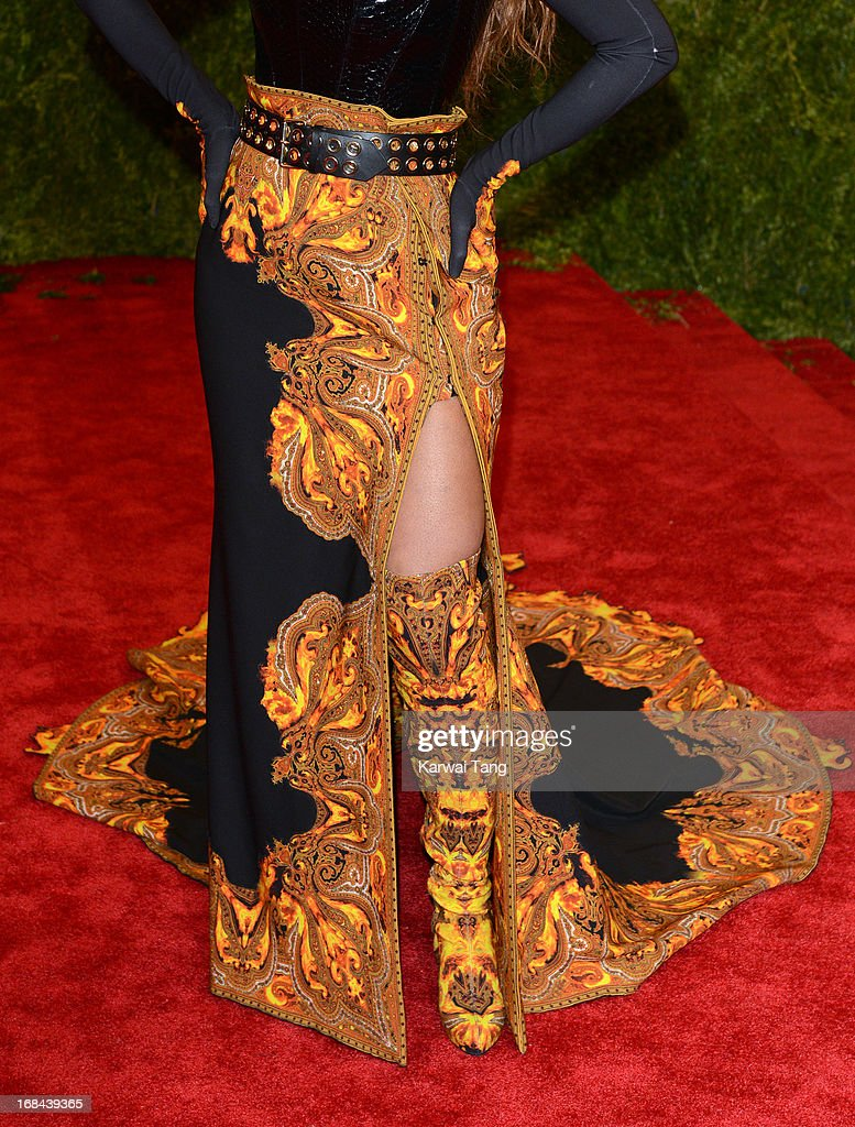 Beyonce attends the Costume Institute Gala for the 'PUNK: Chaos to Couture' exhibition at the Metropolitan Museum of Art on May 6, 2013 in New York City.