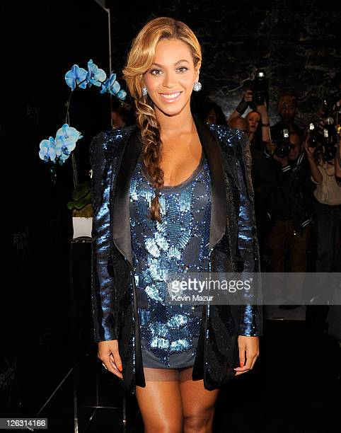 Beyonce attends the launch of her new fragrance PULSE at Dream Downtown on September 21 2011 in New York City