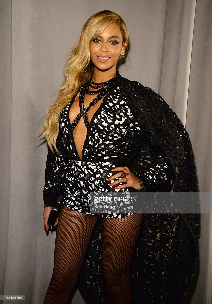 Beyonce attends the Tidal launch event #TIDALforALL at Skylight at Moynihan Station on March 30, 2015 in New York City.