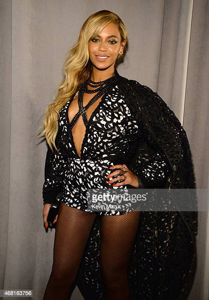 Beyonce attends the Tidal launch event #TIDALforALL at Skylight at Moynihan Station on March 30 2015 in New York City