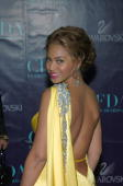 Beyonce during 2004 CFDA Fashion Awards Outside Arrivals at New York Public Library in New York City New York United States