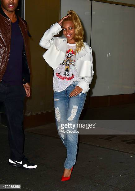 Beyonce is seen in Midtown on May 5 2015 in New York City