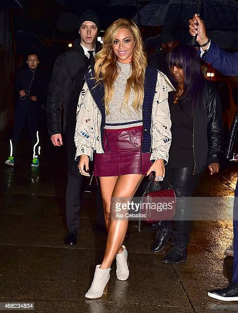 Beyonce is seen on March 31 2015 in New York City