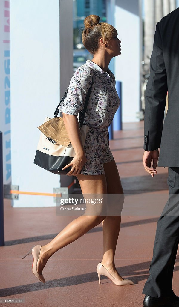 Beyonce is sighted in South Beach on December 9, 2012 in Miami Beach, Florida.