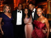 NEW YORK JUNE 13 Beyonce JayZ Kerry Washington Will Smith and Jada Pinkett Smith in the audience at the 64th Annual Tony Awards at Radio City Music...