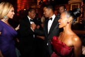 NEW YORK JUNE 13 Beyonce JayZ Will Smith and Jada Pinkett Smith in the audience at the 64th Annual Tony Awards at Radio City Music Hall on June 13...