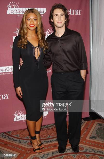 Beyonce Knowles and Josh Groban during Katie Couric and the Entertainment Industry Foundation Unite Hollywood Broadway Stars to Launch The Jay...