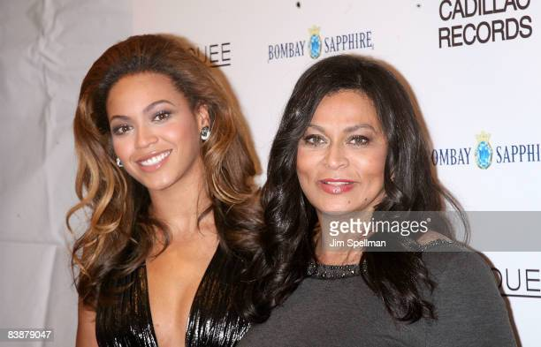 Beyonce Knowles and Tina Knowles attend the premiere of 'Cadillac Records' at the AMC Loews 19 on December 1 2008 in New York City