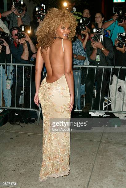 Beyonce Knowles arriving at the 'Austin Powers In Goldmember' post screening party at Barneys New York in New York City July 24 2002 Photo Evan...