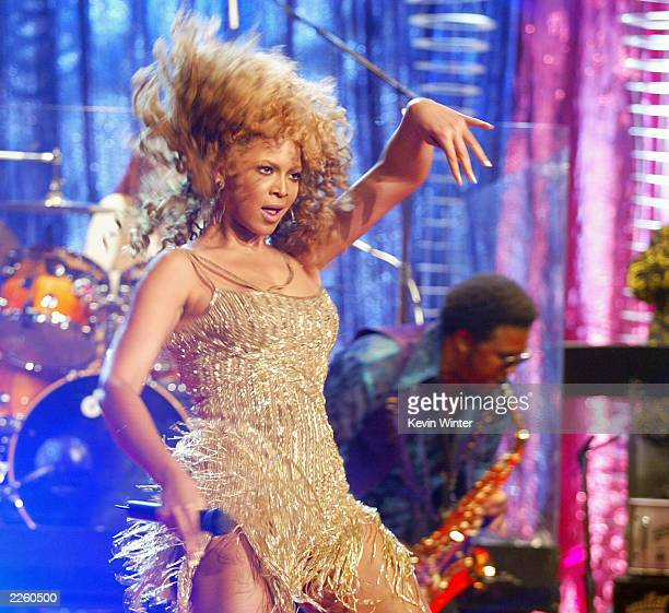 Beyonce Knowles at 'The Tonight Show with Jay Leno' at the NBC Studios in Burbank Ca Tuesday July 23 2002 Photo by Kevin Winter/ImageDirect